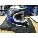 Casco One Kombat MX Azul-Gris T-M
