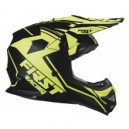 Casco First Racing Negro/Fluor